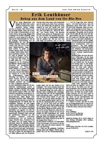 """Artikel über Debüt-Album bei MONS Records im Magazin """"Swing Gazette"""" Dezember 2015"""