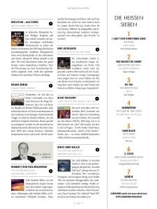 Artikel im Magazin Silberhorn Januar 2016 zu Debut Album bei MONS Records