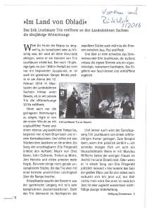 """Kritik von Konzert in Winterlounge der Sächsischen Landesbühnen in Radebeul am 12.02.16 von Wolfgang Zimmermann im Radebeuler Kunst- und Kulturheft """"Vorschau&Rückblick"""""""